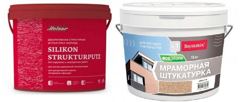 Штукатурки: Dufa struktur putz и Ecostone bayramix