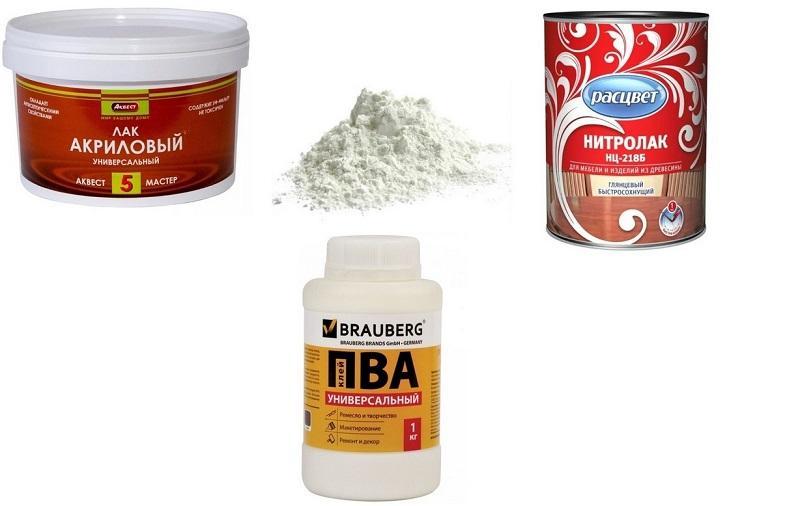 Самодельные шпаклевочные смеси состоят из простых компонентов