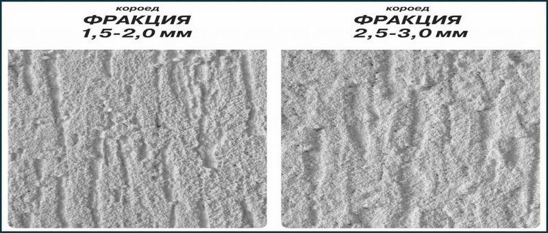 Силикатные составы производятся с гранулами наполнителя разного размера