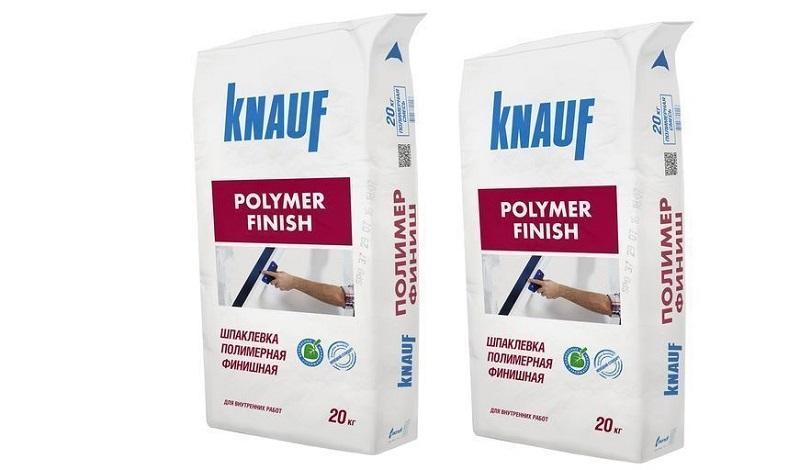 Сухая шпатлевочная смесь KNAUF «Полимер финиш» обладает высокой адгезией и пластичностью