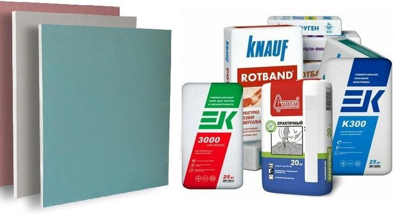 Сухая штукатурка может представлять собой специальную сыпучую смесь или листовой материал