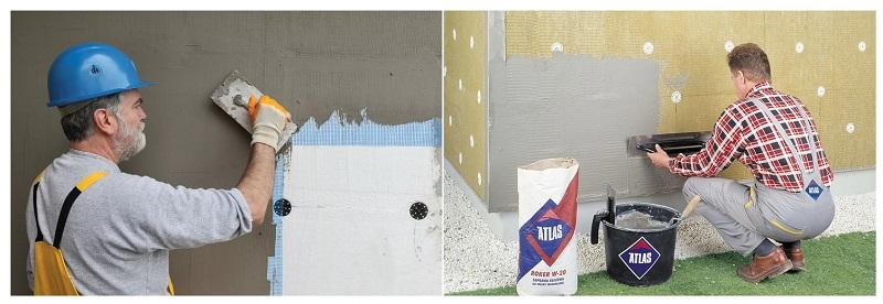 Цементно-известковую штукатурку используют для проведения внутренних и фасадных работ