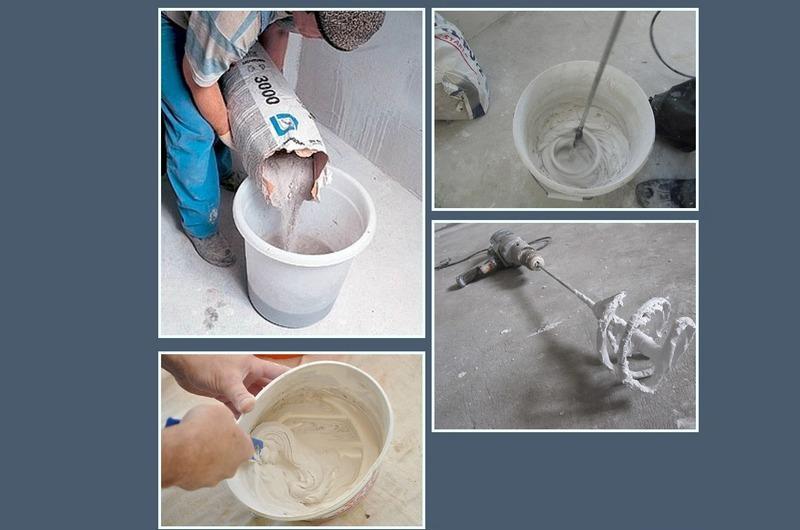 Технология приготовления штукатурного состава