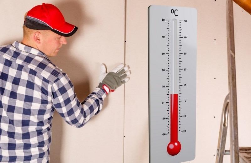 Температура помещения при работе с гипсокартоном должна быть не ниже +5 градусов