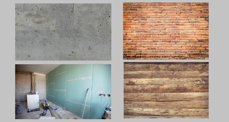 Виды стеновых поверхностей для нанесения латексной шпаклевки