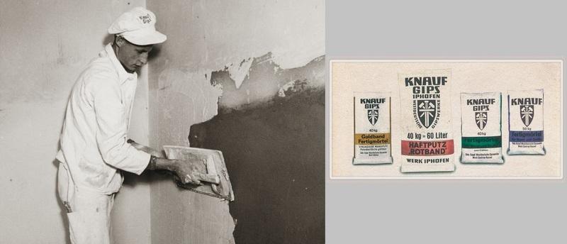 В 1962 году компания КНАУФ разработала состав штукатурной смеси и выпустила ее на рынок под названием «Ротбанд»