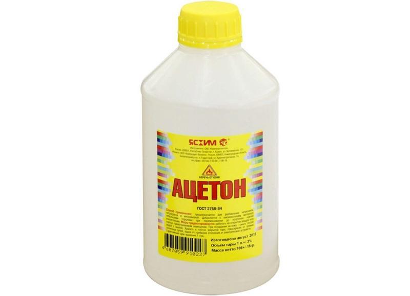 Ацетон классика - распространенный обезжириватель, имеющий сильный характерный запах