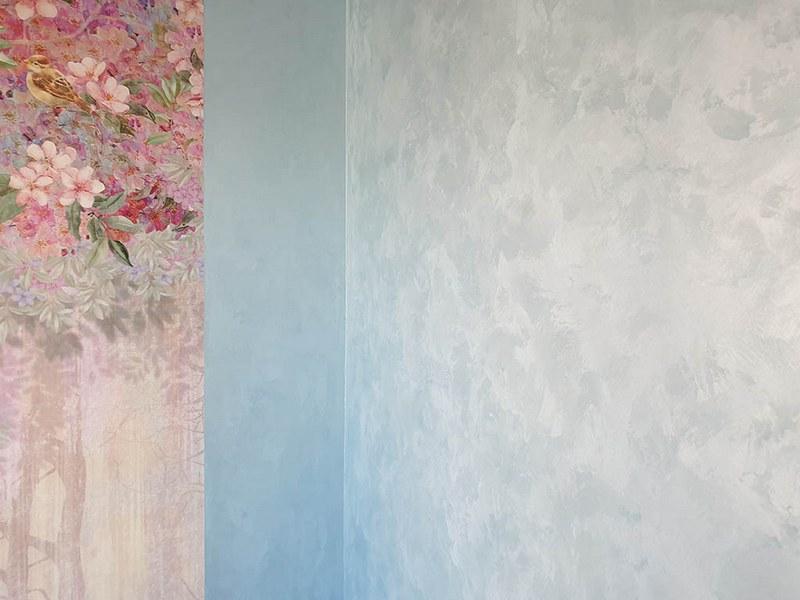 Декоративная краска с эффектом мокрого шелка