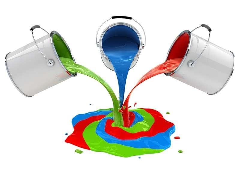 Для получения фактурных эффектов можно смешать несколько видов красок