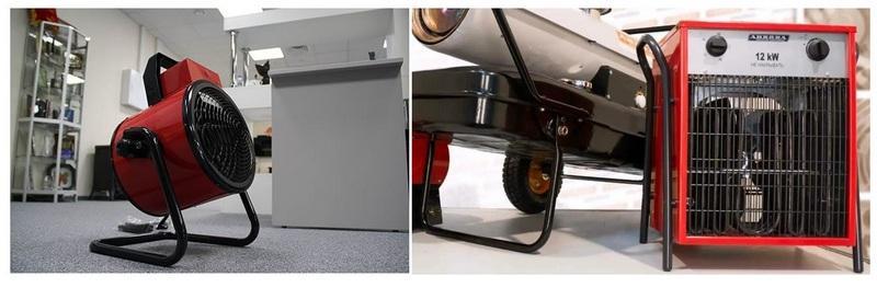 Для прогрева помещения перед штукатурными работами допускается использовать тепловые пушки, калориферы