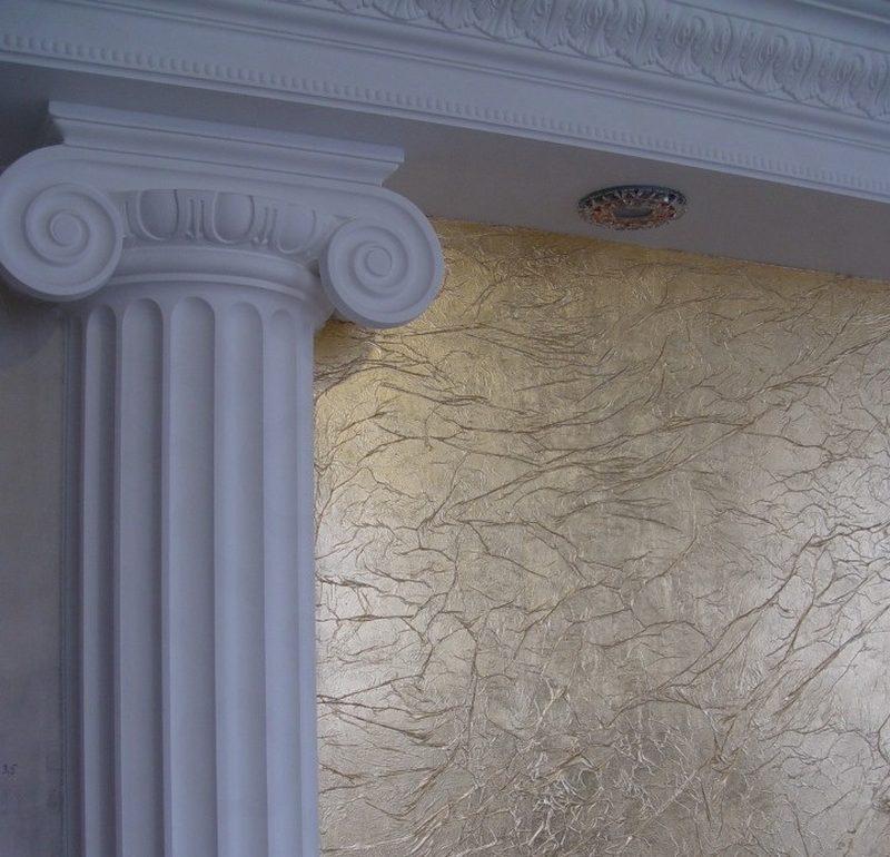 Флоковая штукатурка используется для декорирования различных поверхностей