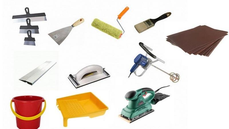 Инструменты для нанесения финишной шпаклевки на поверхность