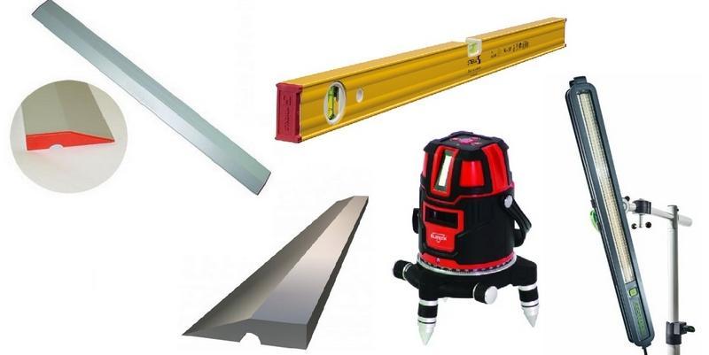 Инструменты для проверки качества штукатурки