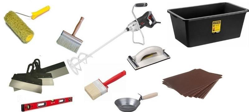 Инструменты для создания финишного слоя штукатурки