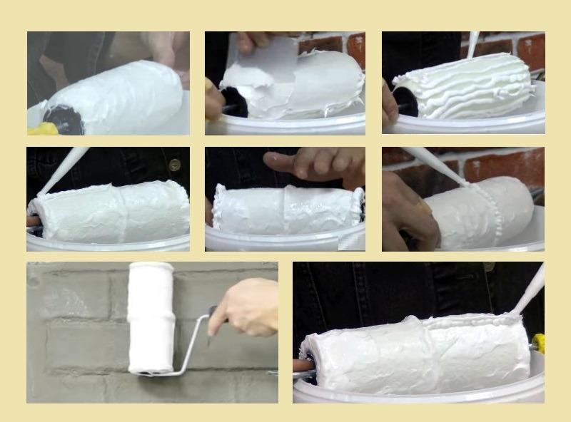 Изготовление валика из малярного инструмента с герметиком