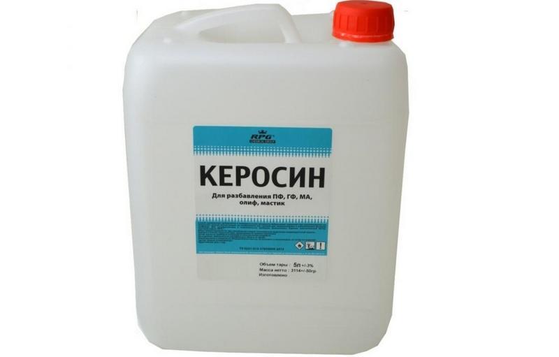 Керосин - эффективное средство, для удаления с поверхности не только жира, но и других загрязнений