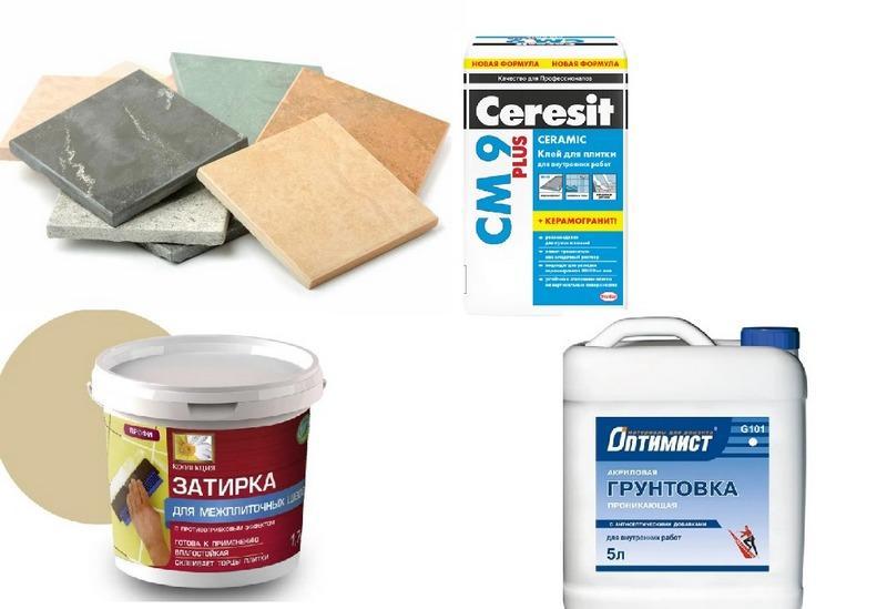 Материалы для облицовки стен плиткой