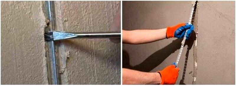 Маяки после штукатурки стен обязательно следует удалить
