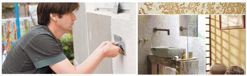 Минеральные штукатурки «Короед» применяются для облицовки фасадов, ванных комнат и саун