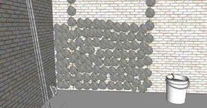 По линии маячка накидывают горки с шагом 30-40 сантиметров