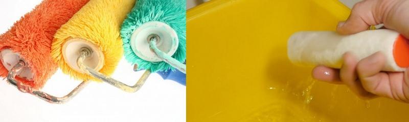 После окончания работы штукатурный валик нужно очистить