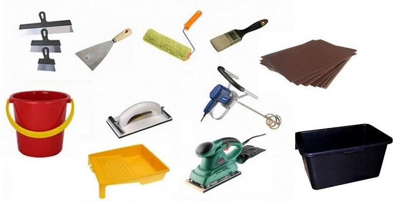 Рабочие инструменты, которые понадобятся для нанесения декоративной штукатурки