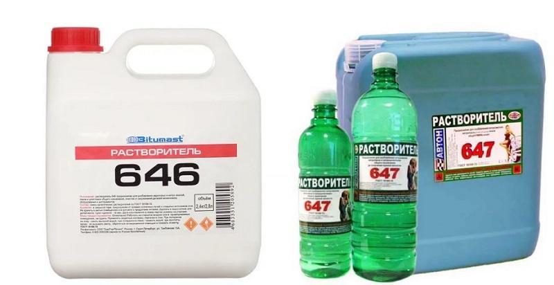 Растворители марок 646 и 647 эффективно справляются с очисткой от жира разных оснований
