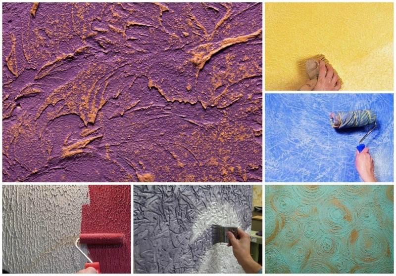 Рельефная декоративная штукатурка позволяет скрыть мелкие дефекты и незначительные неровности