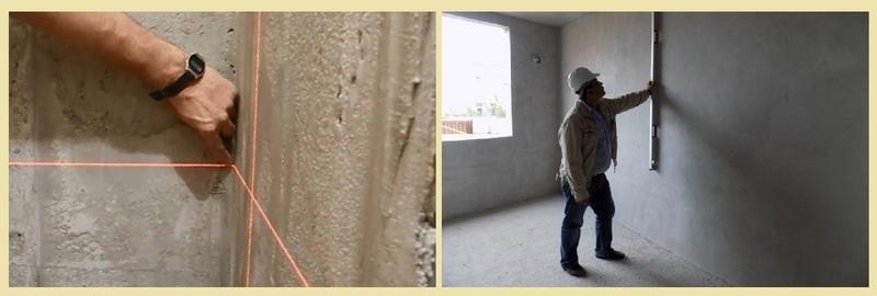 Ровность стены после оштукатуривания проверяют правилом или лазерным нивелиром