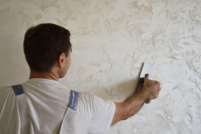 Шпакевку можно использовать для декорирования стен