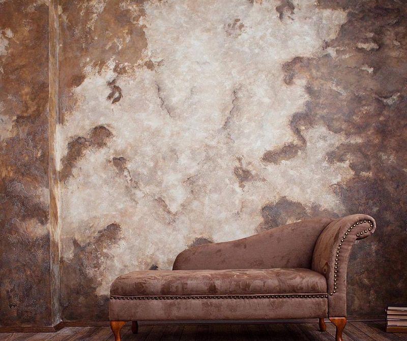 Штукатурка, придающая поверхности состаренный вид – это популярный вид декоративных облицовочных смесей