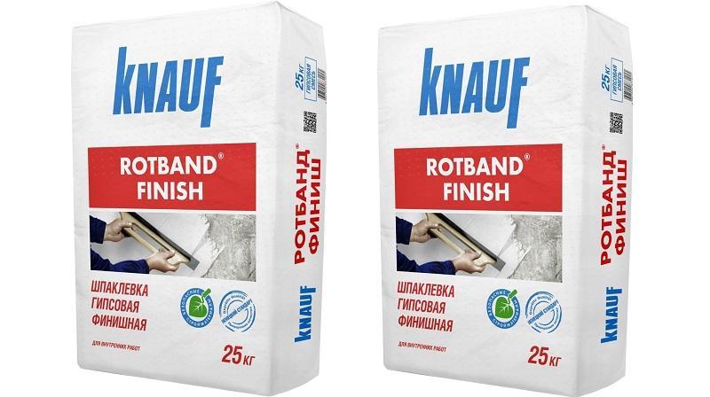 Сухая финишная шпаклевка «Ротбанд финиш» от Knauf создана на полимерной основе