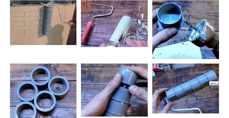 Техника изготовления валика из канализационных заглушек
