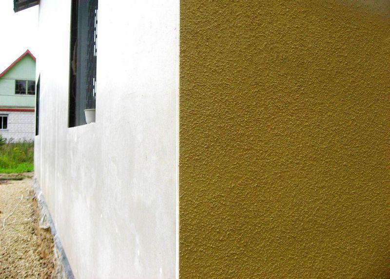 Терразитовые декоративные штукатурки используются для отделки фасадов зданий