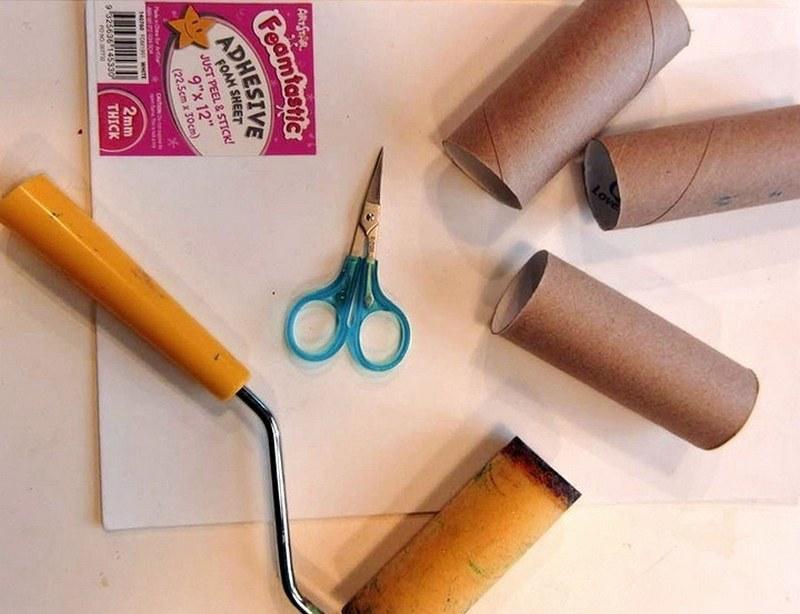 Втулки от туалетной бумаги - отличная основа для декоративных валиков