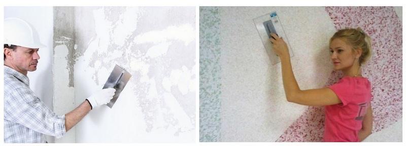 Выполнение штукатурных работ - трудоемкий процесс, жидкие обои можно нанести самостоятельно