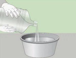 Жидкости берут немного больше указанного количества