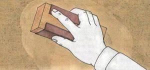 Затирка стен наждачной бумагой