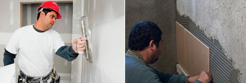 Чтобы кафельная плитка хорошо держалась, а поверхность, обложенная ею, имела эстетичный вид необходимо выровнять стены