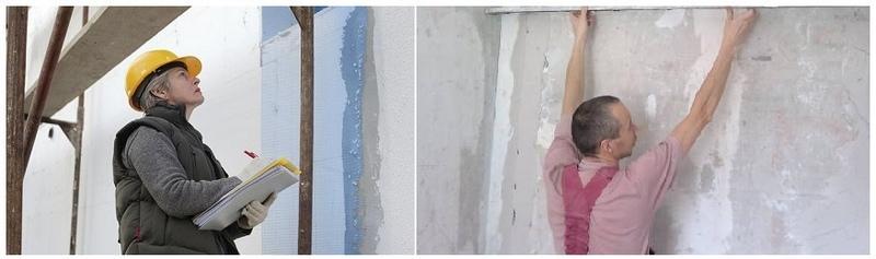 Различают 2 вида экспертизы ровности стеновой поверхности: визуальная и инструментальная
