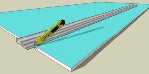 Стандартные листы ГКЛ размечают согласно размерам помещения