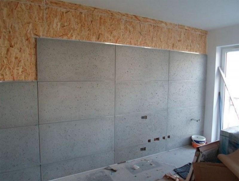 Цементно-стружечная плита является не самым удачным решением для выравнивания стен